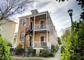 Historic Charleston Rentals- 174 A #4- St Philip St.- Upstairs At the top of Spiral